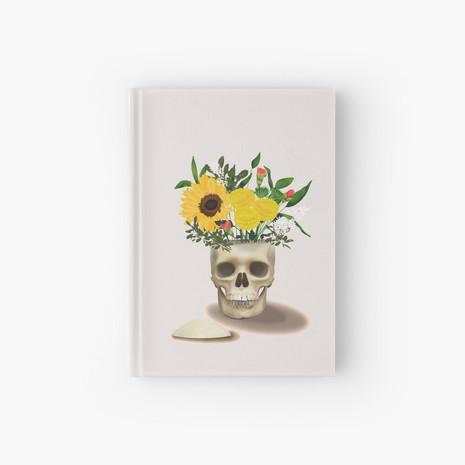 Skull Vase Hardcover Journal