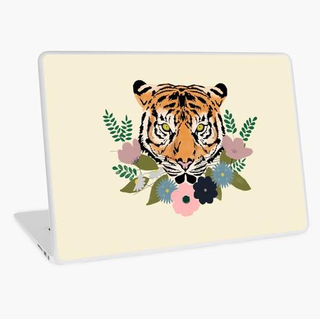 Floral Tiger Laptop Skin