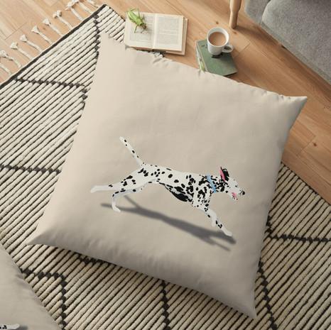 Dalmatian Floor Pillow