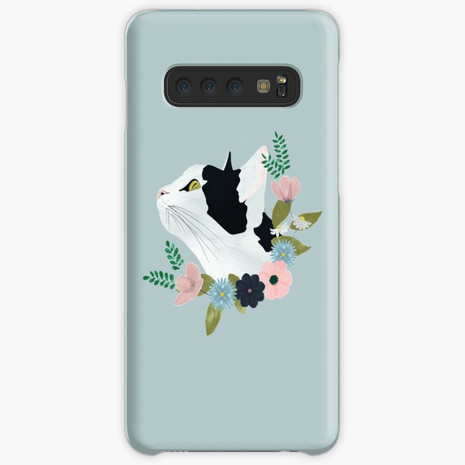 Floral Cat Samsung Galaxy Snap Case