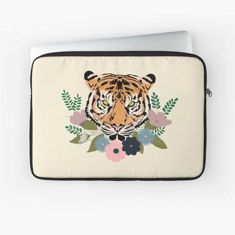 Floral Tiger Laptop Sleeve