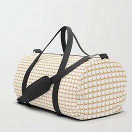 Making Marks Dots Pink Mustard White Duffle Bag