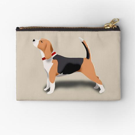 Beagle Zipper Pouch
