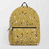Making Marks Splatter Mustard Backpack