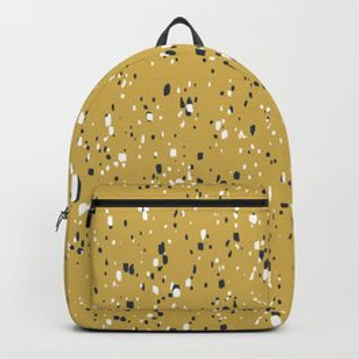 Making Marks Splatter Mustard Backpack