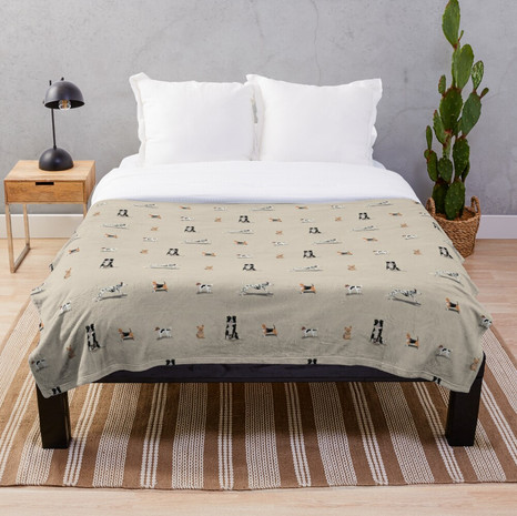 Dog Print Throw Blanket
