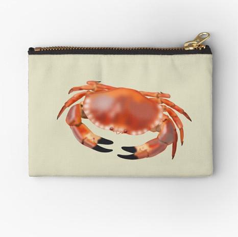 Crab Zipper Pouch