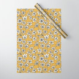 Mustard Glory of the Snow Wrapping Paper