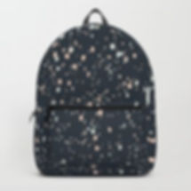 Making Marks Splatter Navy Backpack