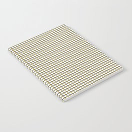 Making Marks Dots Mustard Navy White Notebook