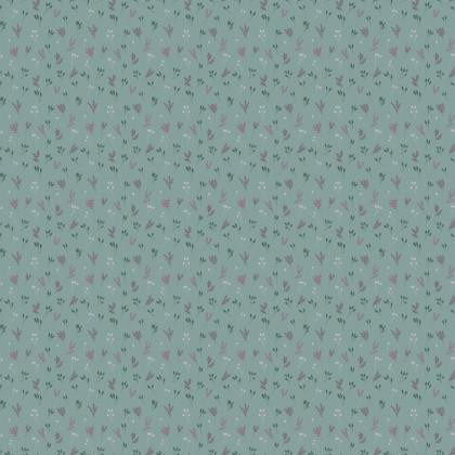 Light Blue Floral Branches Fabric