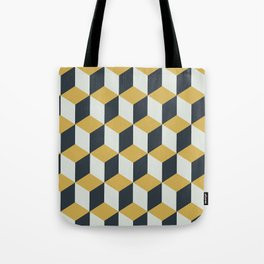 Making Marks Cube Illusion Blue Tote Bag