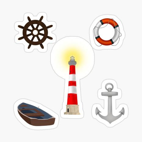 Coastal Glossy Sticker Set