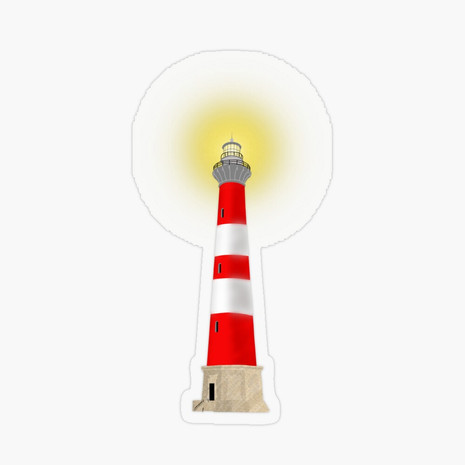 Lighthouse Transparent Sticker