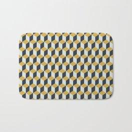 Making Marks Cube Illusion Blue Bath Mat