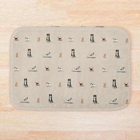 Dog Print Bath Mat