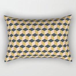 Making Marks Cube Illusion Dark Rectangular Pillow