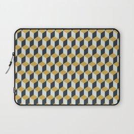 Making Marks Cube Illusion Blue Laptop Sleeve