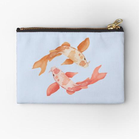 Two Coy Fish Zipper Pouch