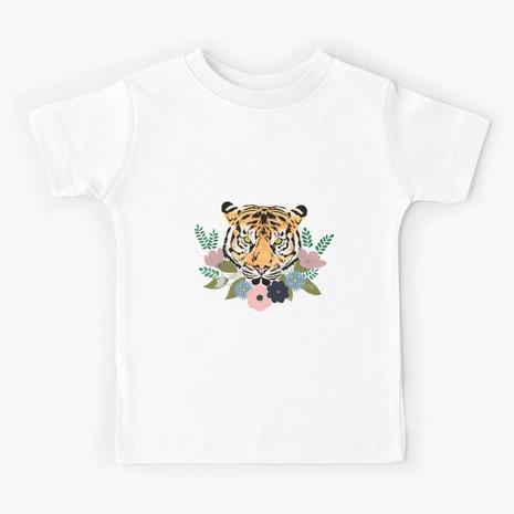 Floral Tiger Kids T-Shirt