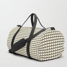 Making Marks Dots Mustard Navy White Duffle Bag