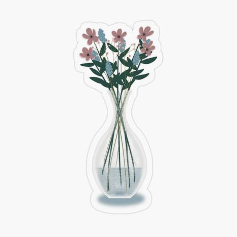 Spring Vase Transparent Sticker