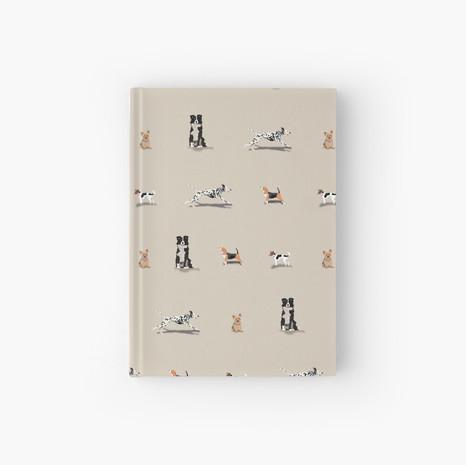 Dog Print Hardcover Journal
