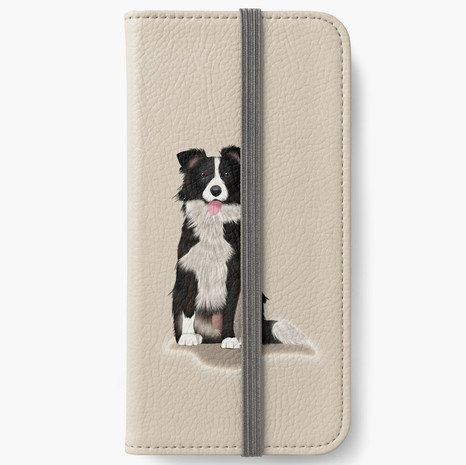 Border Collie iPhone Wallet