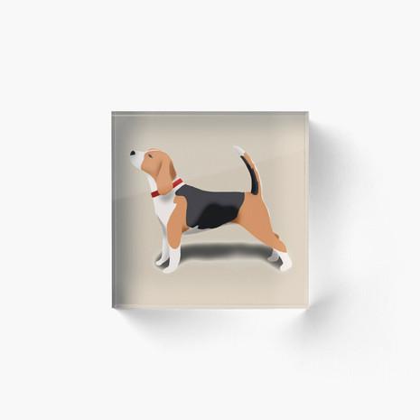 Beagle Acrylic Block