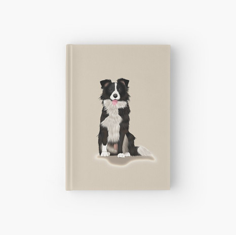 Border Collie Hardcover Journal