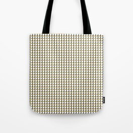 Making Marks Dots Mustard Navy White Tote Bag