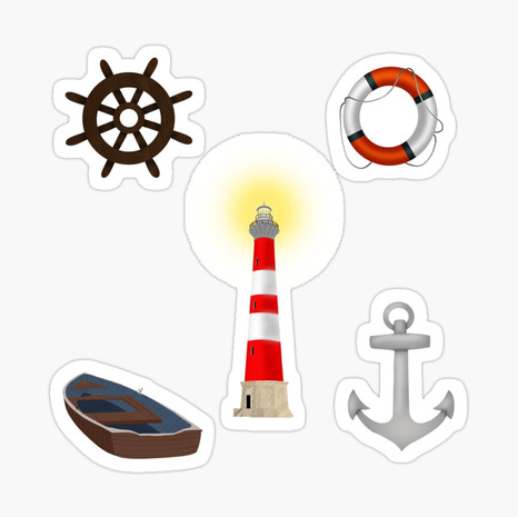 Coastal Sticker Set
