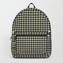 Making Marks Dots Navy Mustard Grey Backpack