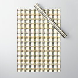 Making Marks Dots Mustard Navy White Wrapping Paper