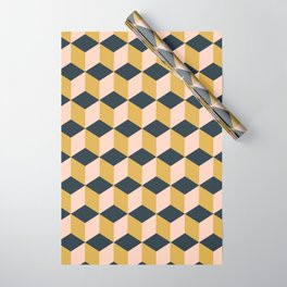 Making Marks Cube Illusion Dark Wrapping Paper