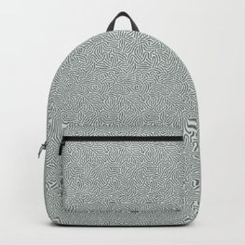 Making Marks Textured Surface Grey/Navy Backpack