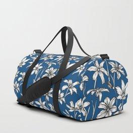 Blue Glory of the Snow Duffle Bag