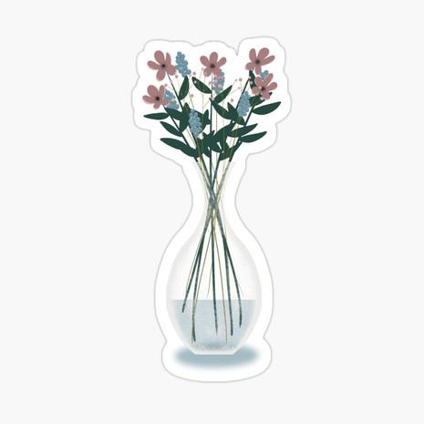 Spring Vase Glossy Sticker