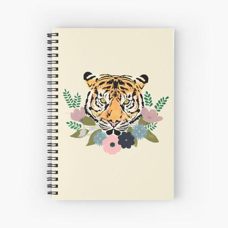 Floral Tiger Spiral Notebook