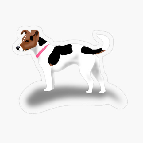 Jack Russell Transparent Sticker