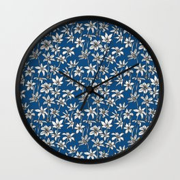 Blue Glory of the Snow Wall Clock