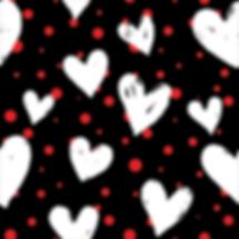 White Hearts & Red Polka
