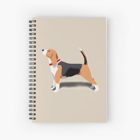 Beagle Spiral Notebook