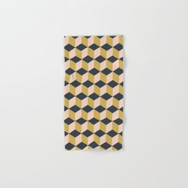 Making Marks Cube Illusion Dark Bath Towel