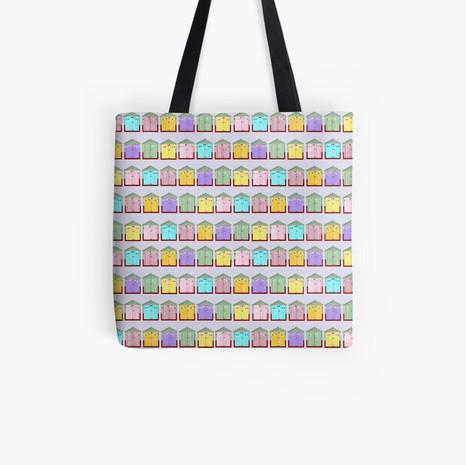 Beach Hut Tote Bag