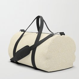Making Marks Textured Surface White Mustard Duffle Bag