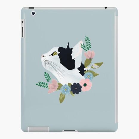 Floral Cat iPad Snap Case