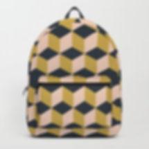 Making Marks Cube Illusion Dark Backpack
