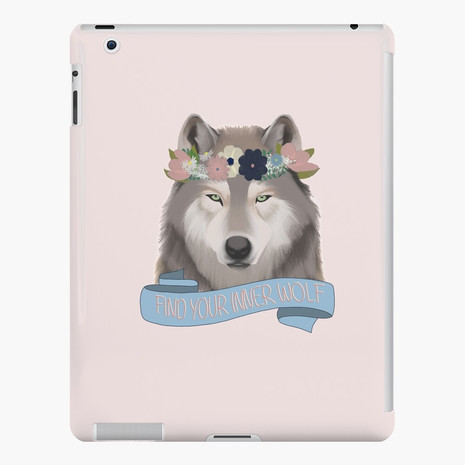 Floral Wolf - Find Your Inner Wolf iPad Snap Case