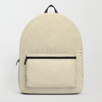 Making Marks Textured Surface White/Mustard Backpack